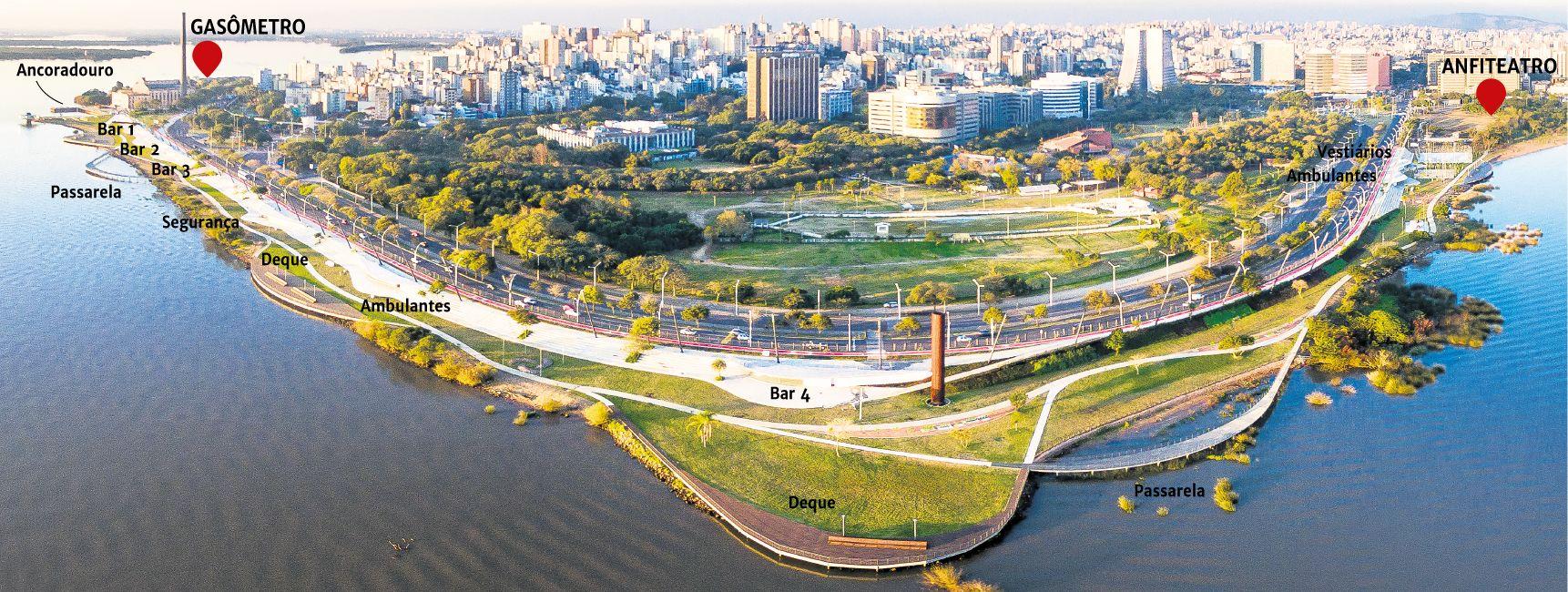 Restauração da Orla do Guaíba é novo marco arquitetônico da capital