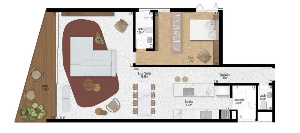 Apartamento 201 - 1 Suíte