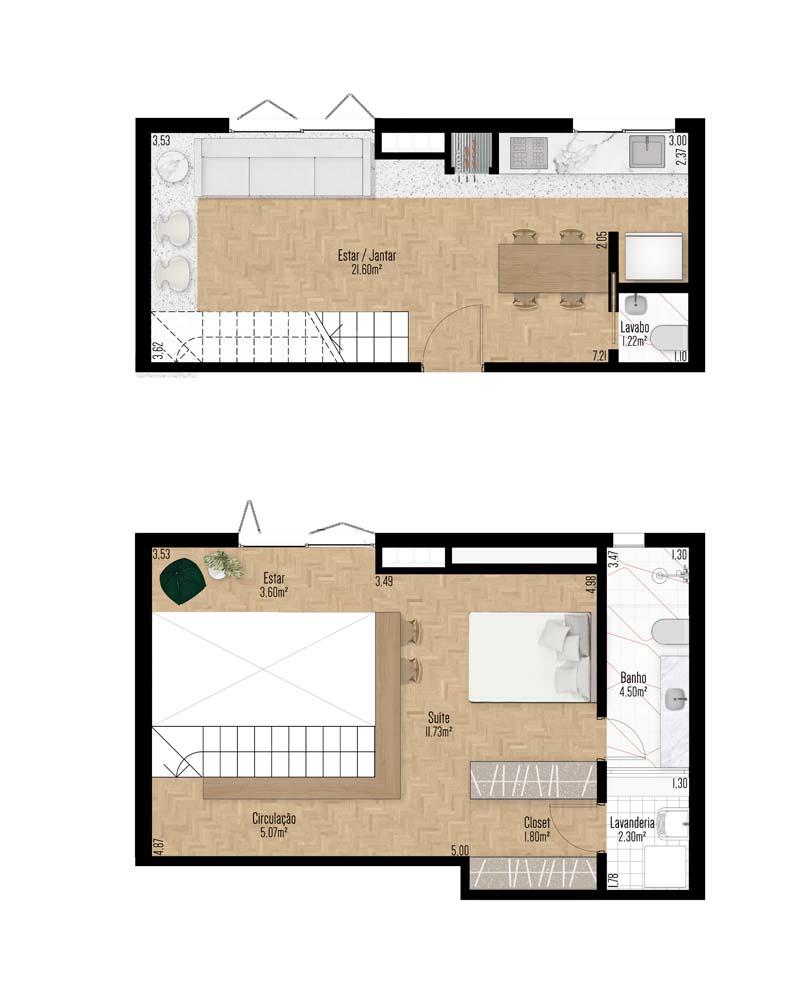 Apartamento Duplex 702