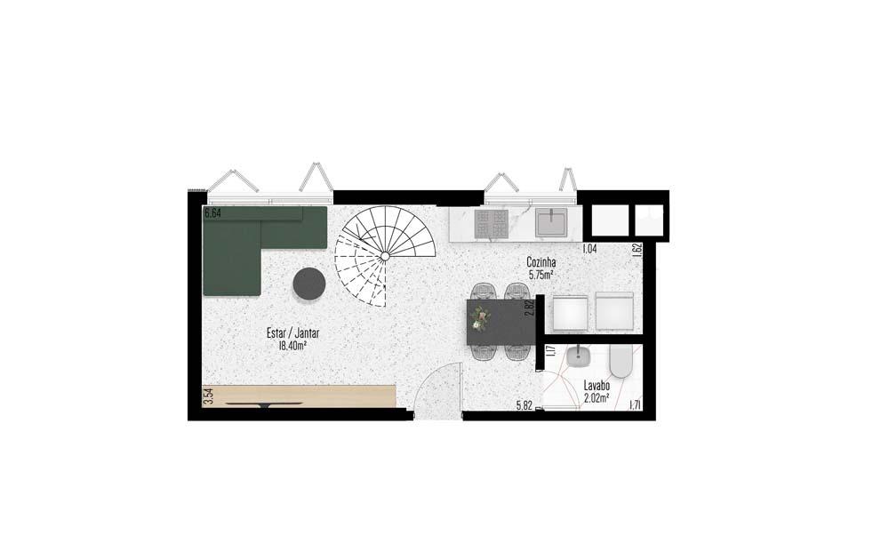 Apartamento 202 - Segundo Pavimento