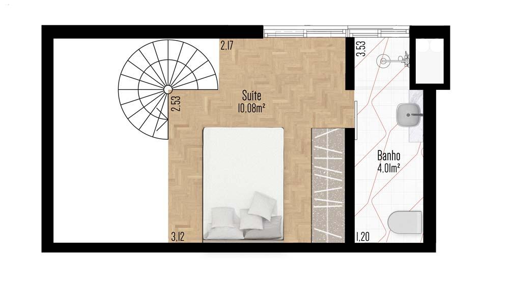 Apartamento 202 - Terceiro Pavimento